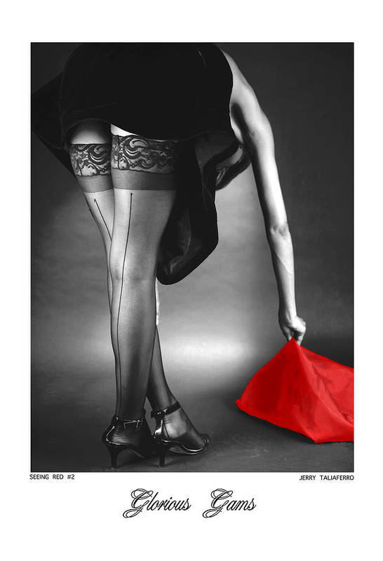 Figure Print featuring the photograph Glorious Gams - Seeing Red by Jerry Taliaferro