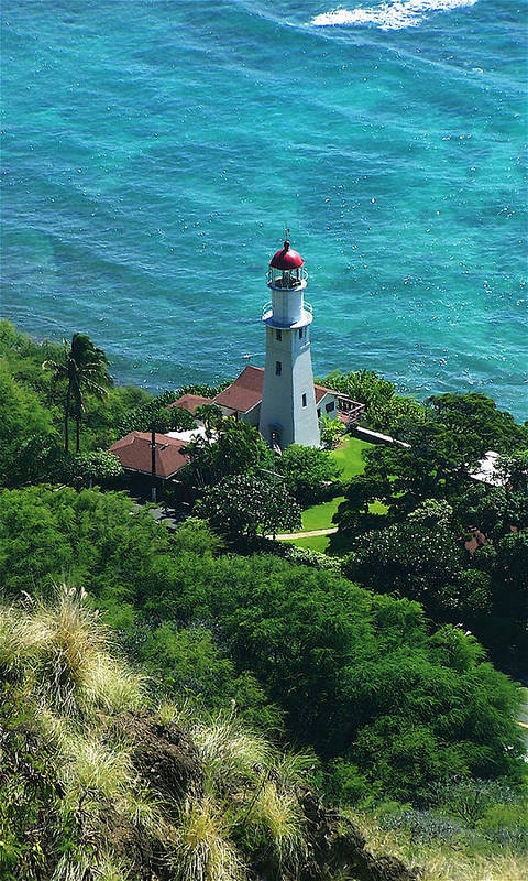 Oahu Art Print featuring the photograph Oahu Lighthouse by Michael Lewis