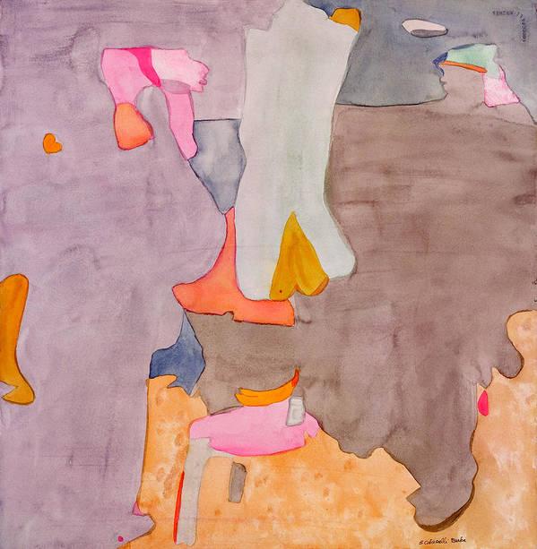 Abstract Art Print featuring the painting Les Demoiselles Of Santa Cruz V6 by Susan Cafarelli Burke