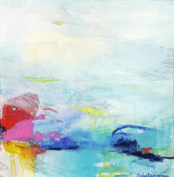 Abstract Art Print featuring the painting Somewhere Else by Claire Desjardins