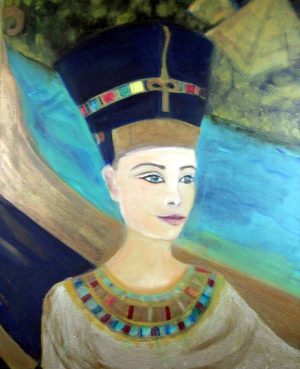 Egypt Art Print featuring the painting From Darkness Sailed The Golden Barque by Michela Akers