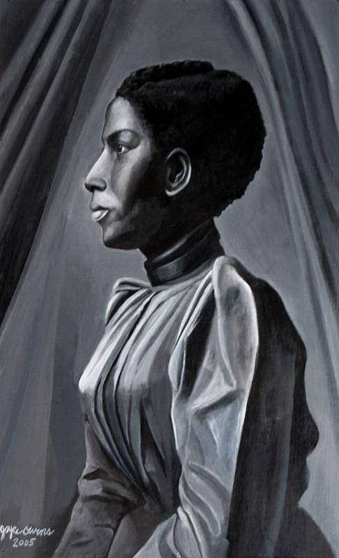 Figurative Art Print featuring the painting Out Of The Box Woman In Shirtdress by Joyce Owens