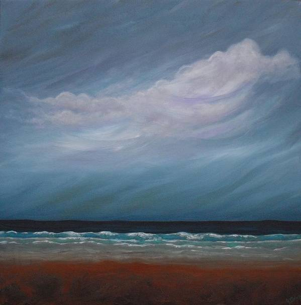 Storm Art Print featuring the painting Crashing In by Jana Caissie