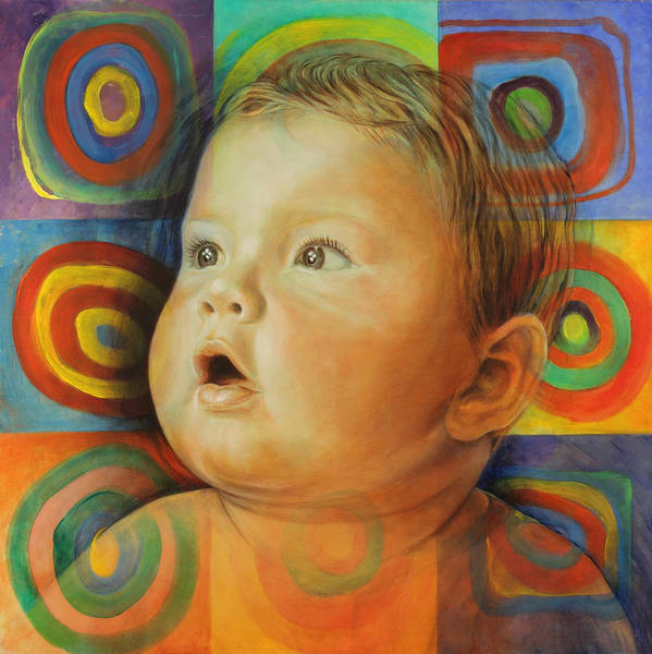 Baby Print featuring the painting Manuel's Portrait by Karina Llergo