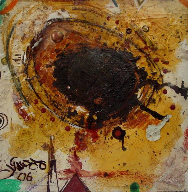 Contemporary African Art Art Print featuring the mixed media Eye 4 by Mohamed-saeed Omer