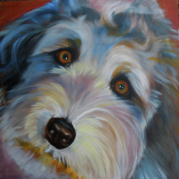 Animal Art Print featuring the painting Muffin by Kaytee Esser
