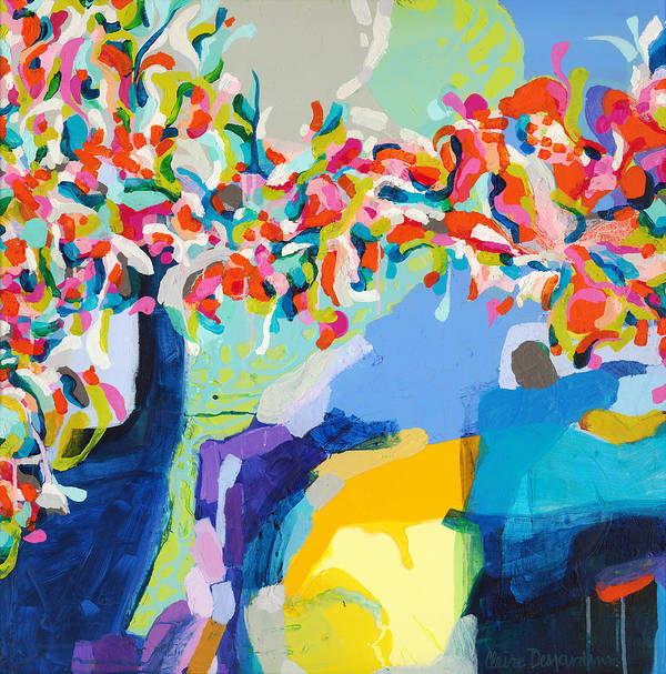 Abstract Art Print featuring the painting My Vanity by Claire Desjardins
