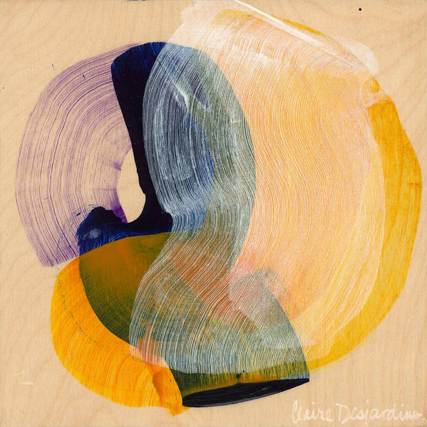Abstract Art Print featuring the painting Out Of The Blue 04 by Claire Desjardins