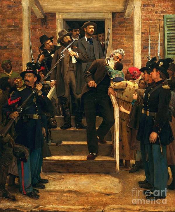 Pd Art Print featuring the painting The Last Moments Of John Brown by Pg Reproductions