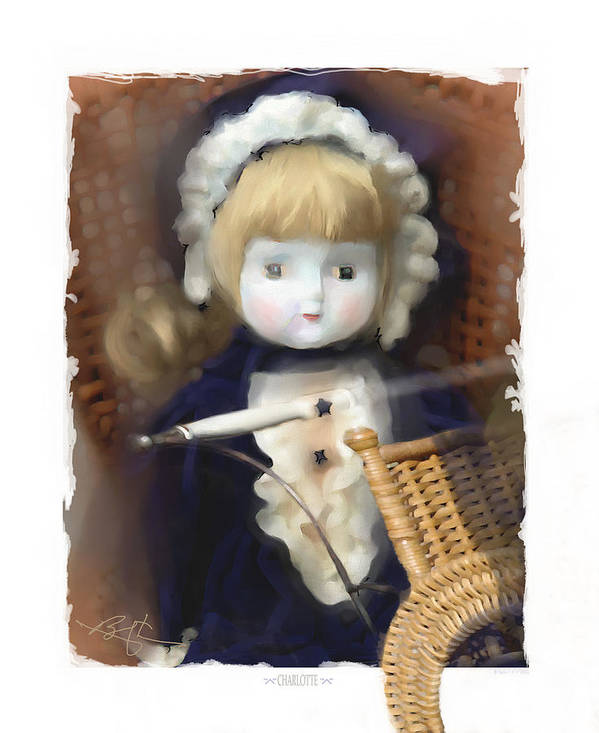 Baby Doll Art Print featuring the painting Charlotte by Bob Salo