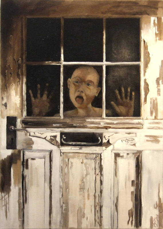 Figurative Art Print featuring the painting Behind Closed Doors by Jane Simpson