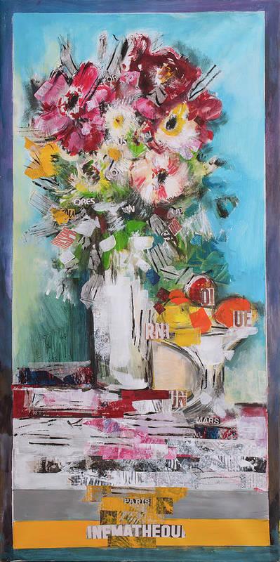Bouquet Art Print featuring the digital art Letter Bouquet by Luz Graphic Studio