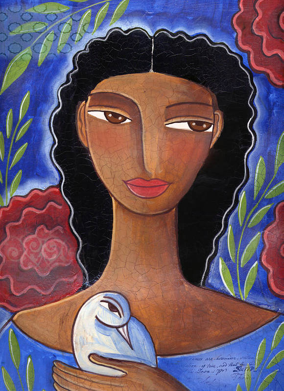 African American Art Print featuring the mixed media I Know I Can Love by Elaine Jackson