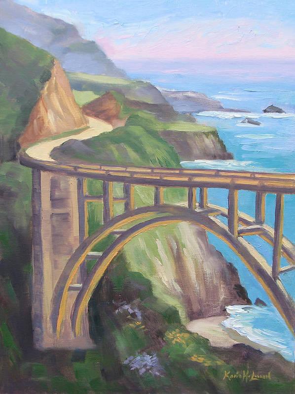 Big Sur Adventure, Bixby Bridge by Karin Leonard