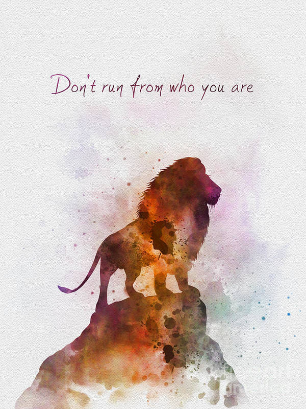 Don't run from who you are by My Inspiration