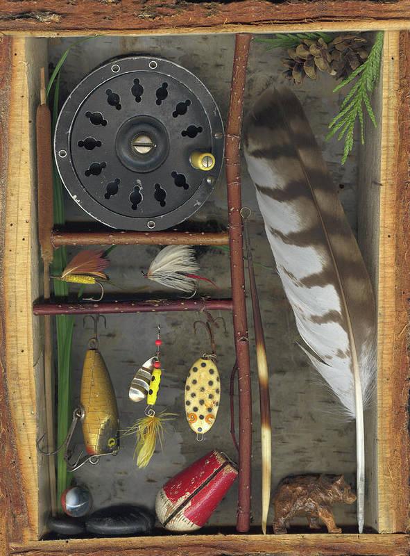 Shadow Box Art Print featuring the mixed media Shadow Box A by Sandi F Hutchins