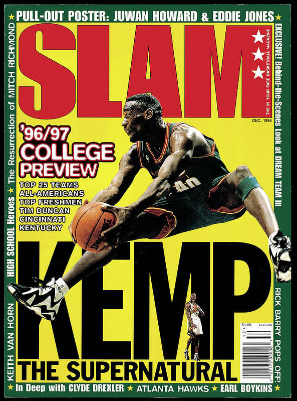 Shawn Kemp Art Print featuring the photograph Kemp: The Supernatural SLAM Cover by Getty Images