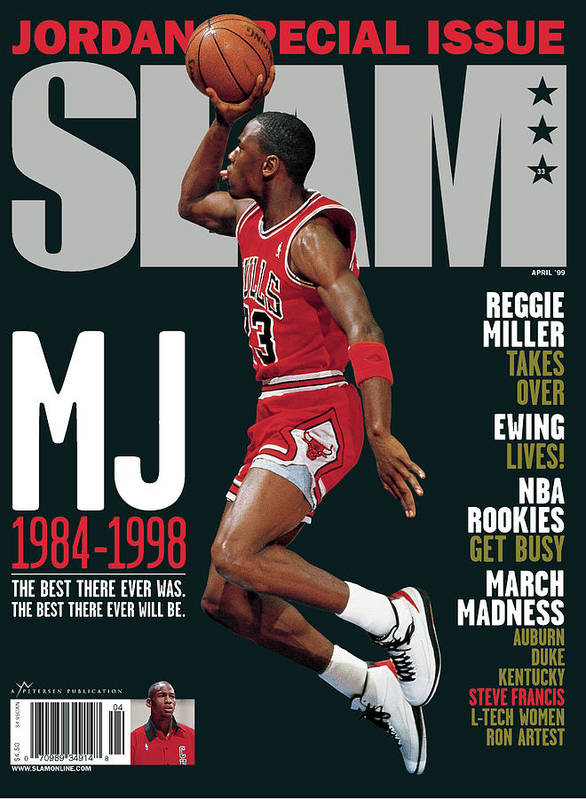 Michael Jordan Art Print featuring the photograph MJ 1984-1998: The Best There Ever Was. The Best There Ever Will Be. SLAM Cover by Getty Images