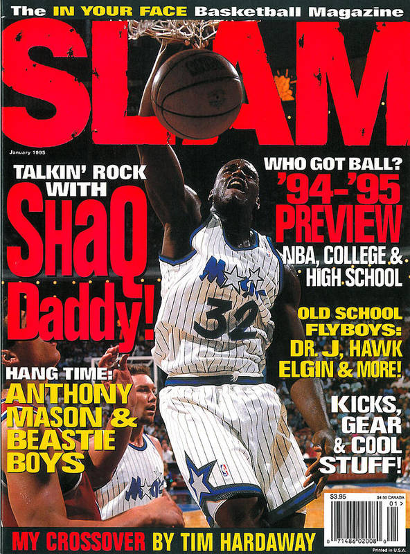 Shaquille O'neal Art Print featuring the photograph Talkin' Rock with Shaq Daddy SLAM Cover by Getty Images