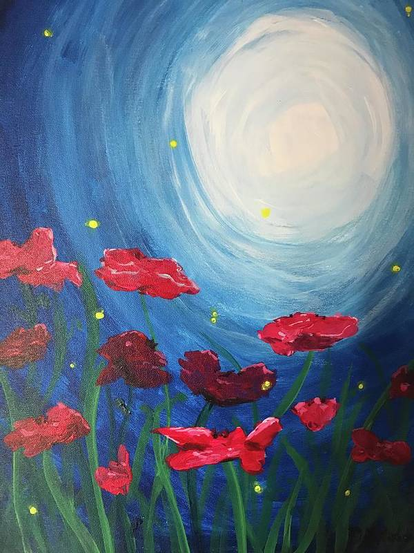 Poppies and Fireflies by Danielle Materacky