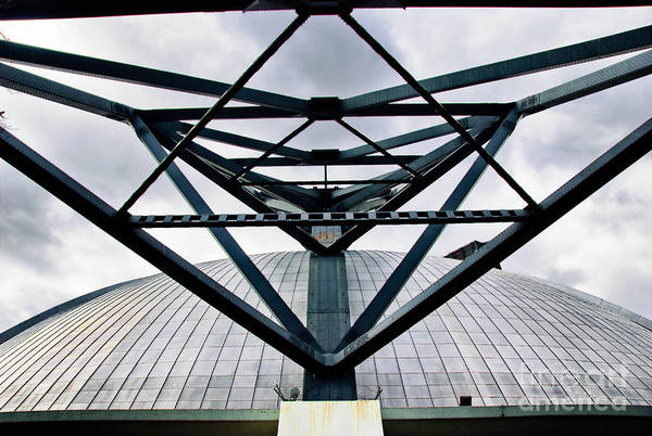 Architecture Print featuring the photograph Perspectives Mellon Arena by Amy Cicconi