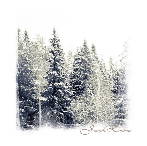 Winter Print featuring the photograph Winter Wonderland. Elegant Knickknacks From Jennyrainbow by Jenny Rainbow