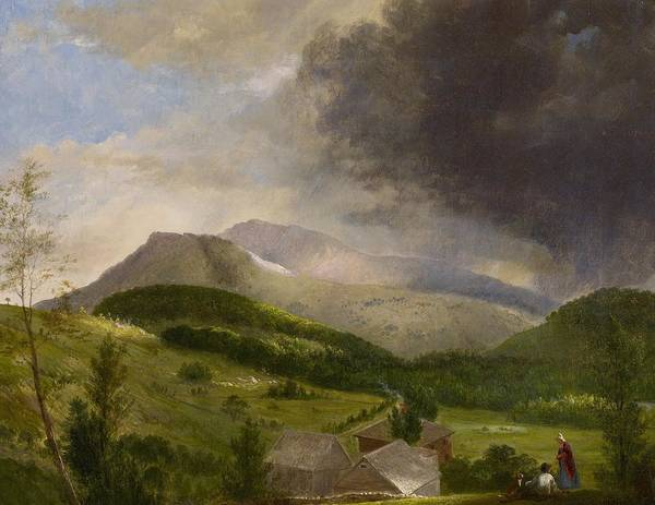 Couple Print featuring the painting Approaching Storm White Mountains by Alvan Fisher