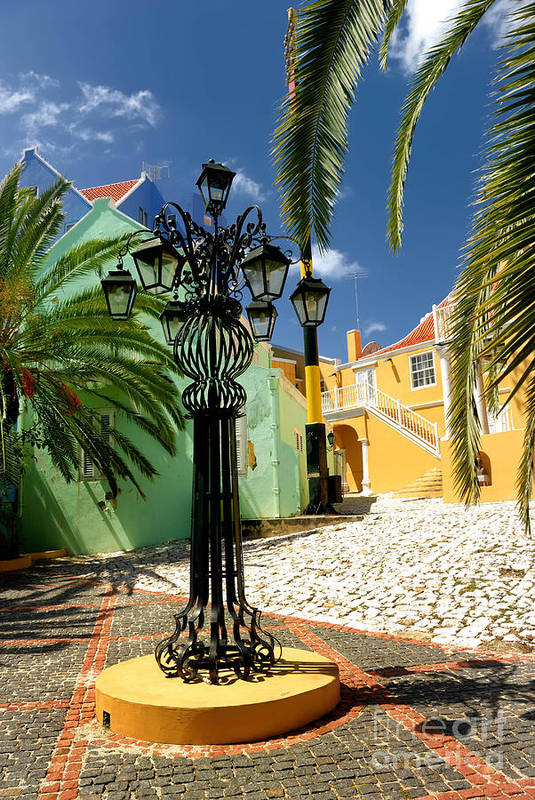 Willemstad Print featuring the photograph Curacao Colorful Architecture by Amy Cicconi