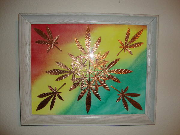 Red Print featuring the mixed media Dream Leaves One by Scott Faucett