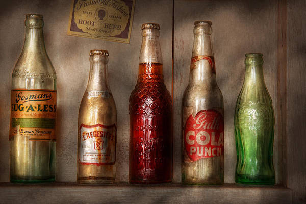 Soda Print featuring the photograph Food - Beverage - Favorite Soda by Mike Savad