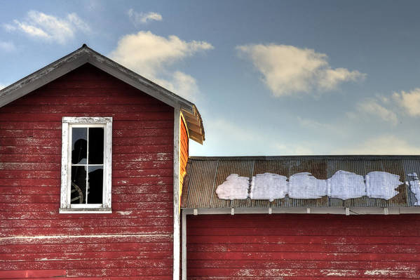 13493 Print featuring the photograph Ft Collins Barn 13493 by Jerry Sodorff