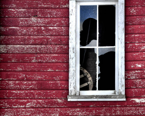 Window Print featuring the photograph Ft Collins Barn Window 13568 by Jerry Sodorff
