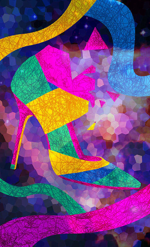 High Heels Print featuring the drawing High Heels On Ropes by Pierre Louis