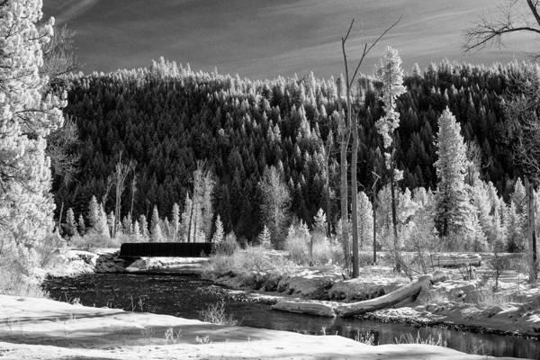 Montana Print featuring the photograph Mountain Bridge by Paul Bartoszek