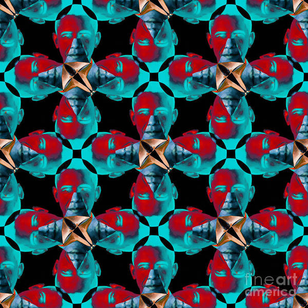 Politic Print featuring the photograph Obama Abstract 20130202m180 by Wingsdomain Art and Photography