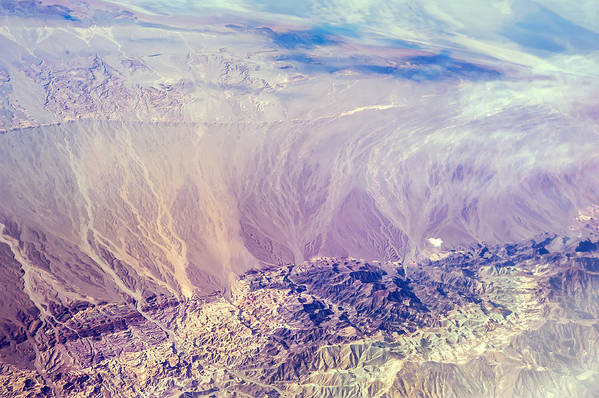 Aerial Print featuring the photograph Painted Earth I by Jenny Rainbow