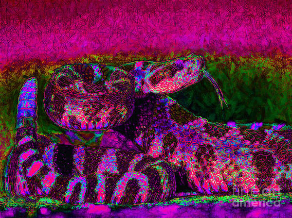 Rattlesnake Print featuring the photograph Rattlesnake 20130204m80 by Wingsdomain Art and Photography