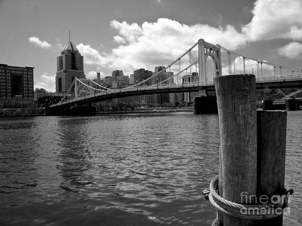 6th Street Bridge Print featuring the photograph Roberto Clemente Bridge Pittsburgh by Amy Cicconi