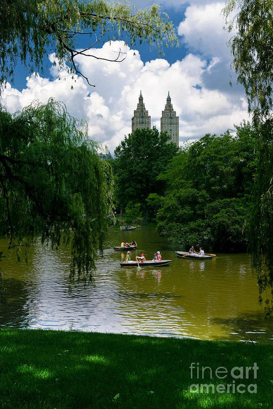 Boat Print featuring the photograph Rowboats Central Park New York by Amy Cicconi