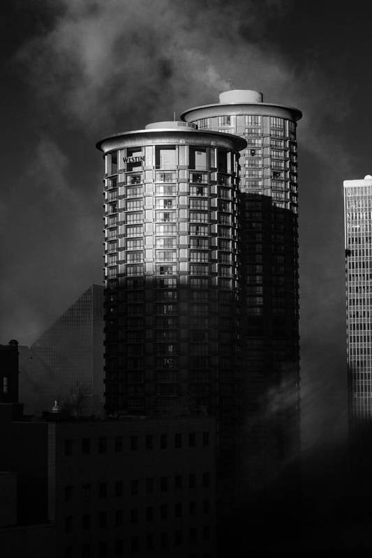 Montana Print featuring the photograph Seattle Towers by Paul Bartoszek
