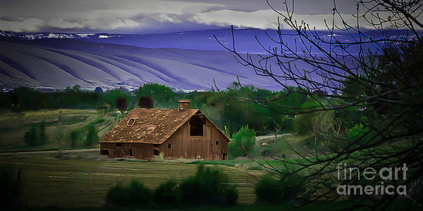 Barn Print featuring the photograph The Barn by Robert Bales