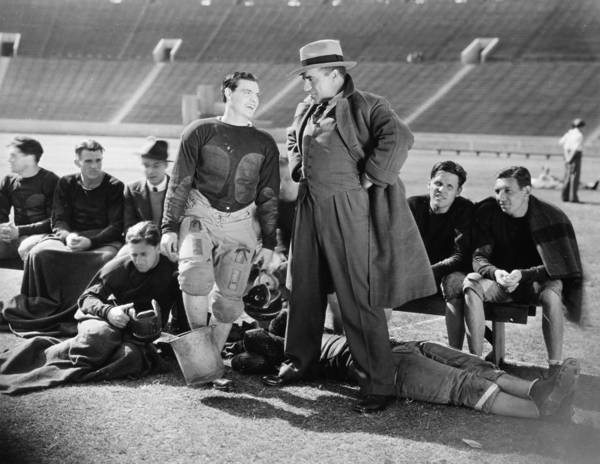 -sports- Print featuring the photograph Silent Film Still: Sports by Granger