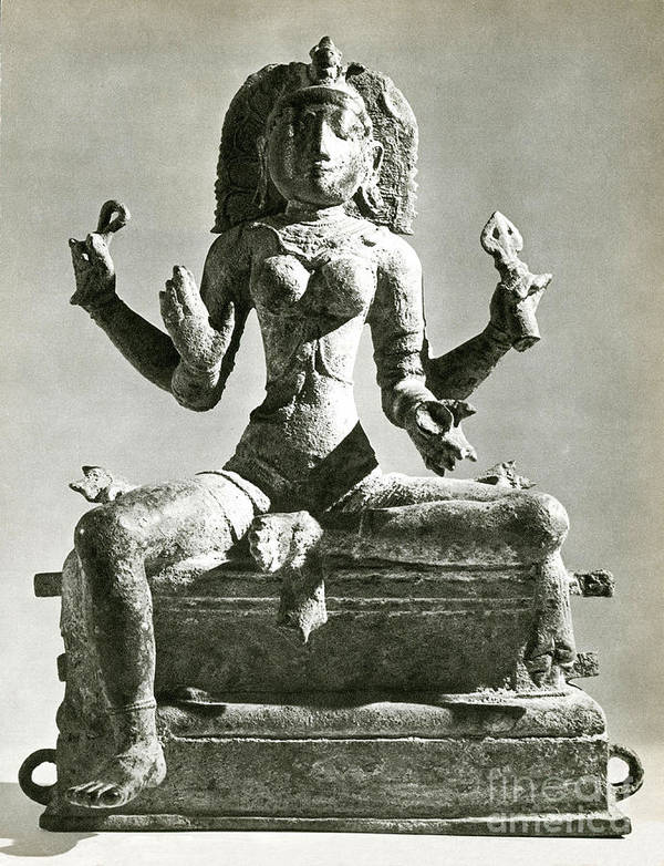 Kali Print featuring the photograph Kali by Photo Researchers