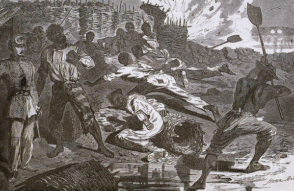 America Print featuring the photograph Siege Of Vicksburg, 1863 by Photo Researchers