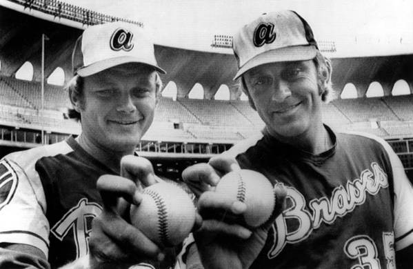 Baseball Uniform Print featuring the photograph Atlanta Braves Pitchers Joe Niekro by Everett