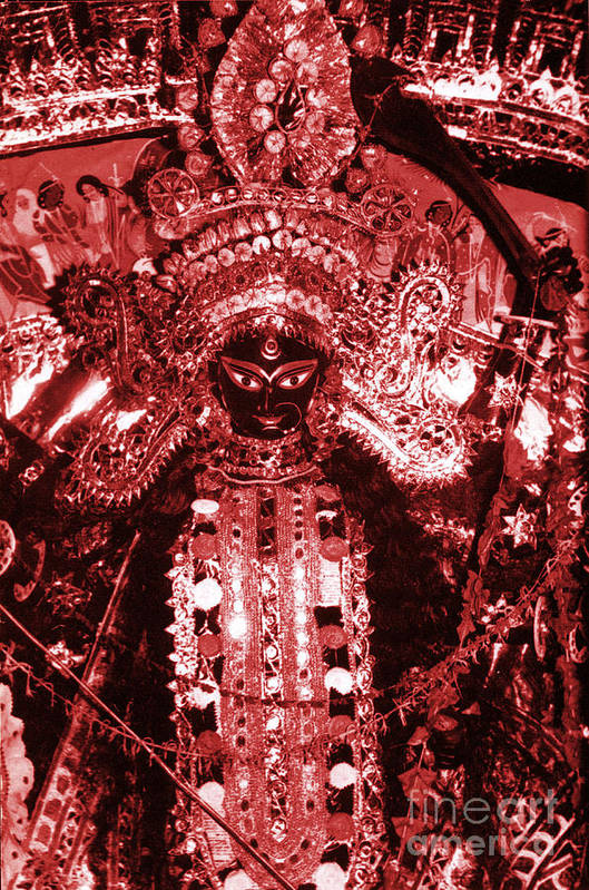 Durga Print featuring the photograph Durga by Photo Researchers