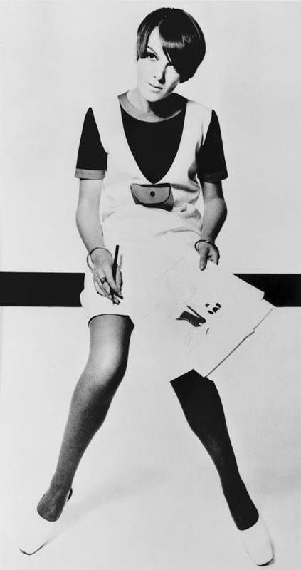 History Print featuring the photograph Mary Quant, British Mod Fashion by Everett