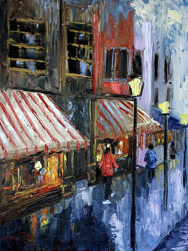 Twelve Street And Rine Framed Prints Print featuring the painting Twelve Street And Rine by Anthony Falbo