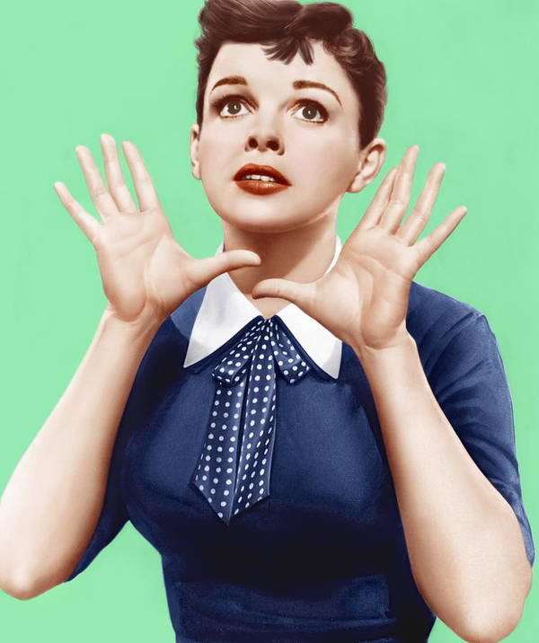 1950s Portraits Print featuring the photograph A Star Is Born, Judy Garland, 1954 by Everett