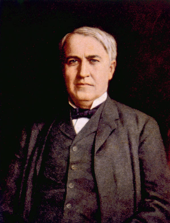 Edison Print featuring the photograph Thomas Alva Edison 1847-1931 by Everett